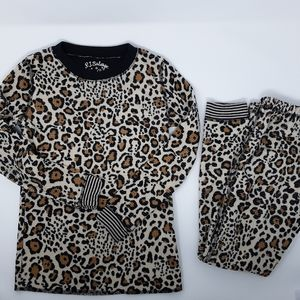 P.J. Salvage Vintage Velour Animal Print Pajamas